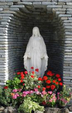 Grotto of Blessed Mother at St. Francis Park