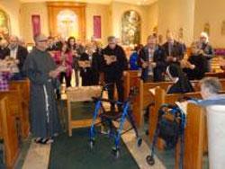 FSSJ News - Fr. Ross Syracuse, OFM Conv, pastor and Sister Mary Anne