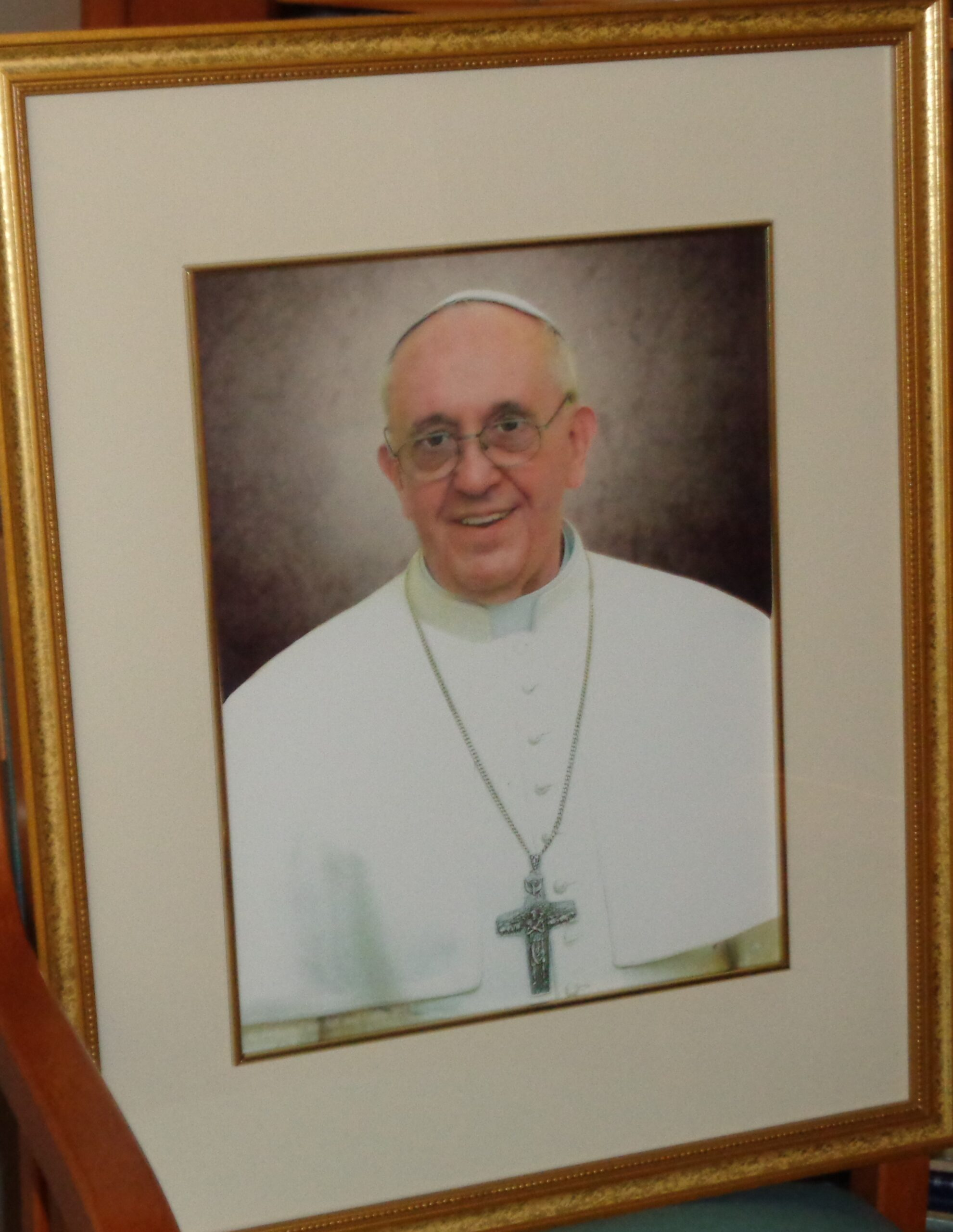 Picture of Pope Francis which is in Library at St. Francis Park